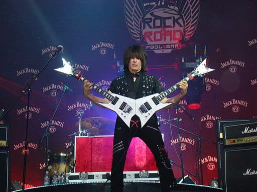 Michael Angelo Batio double neck guitar