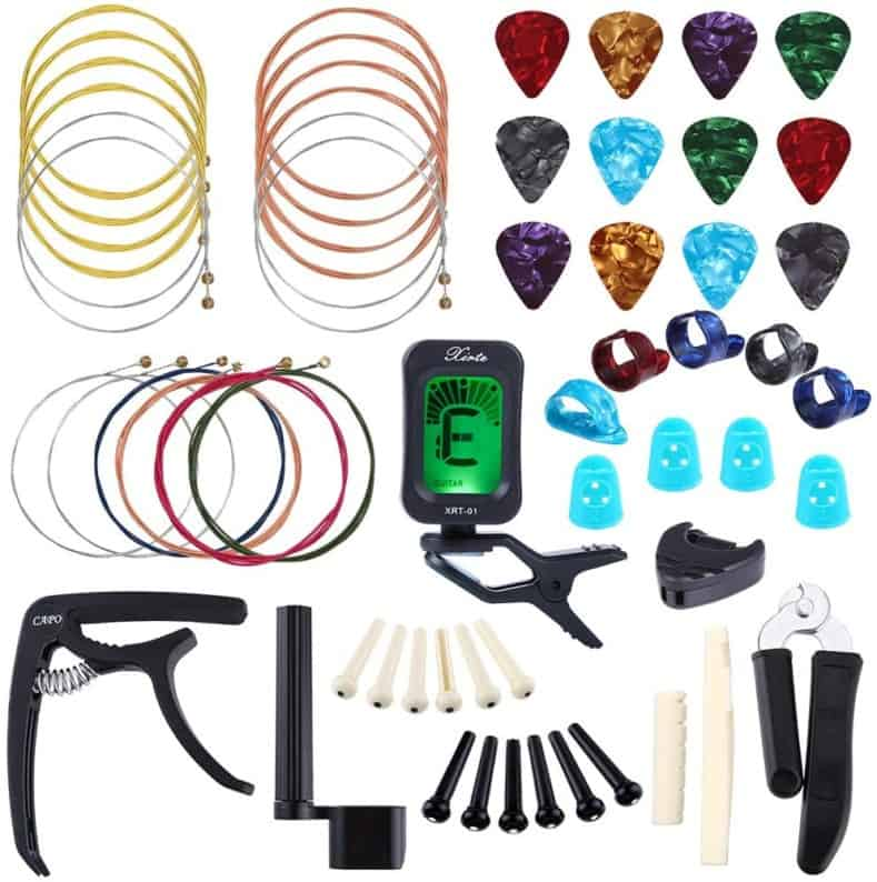 Auihiay 58-Piece Guitar Accessories Kit