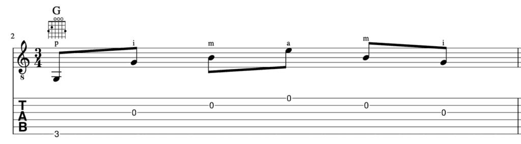 learn fingerpicking guitar -Fingerpicking Pattern 2 pimami