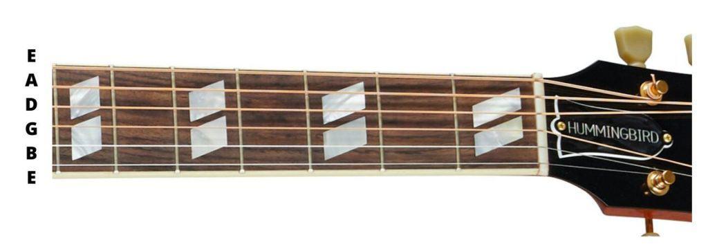 Gibson Hummingbird Fretboard
