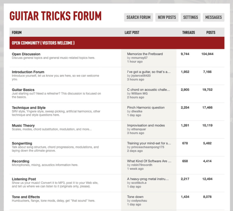 Guitar Tricks - Forum