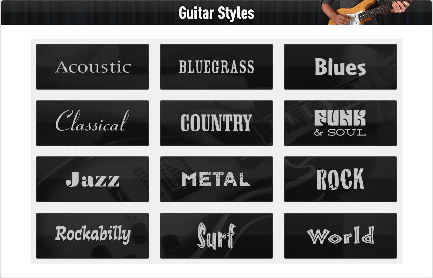 Guitar Tricks Review - Guitar Styles