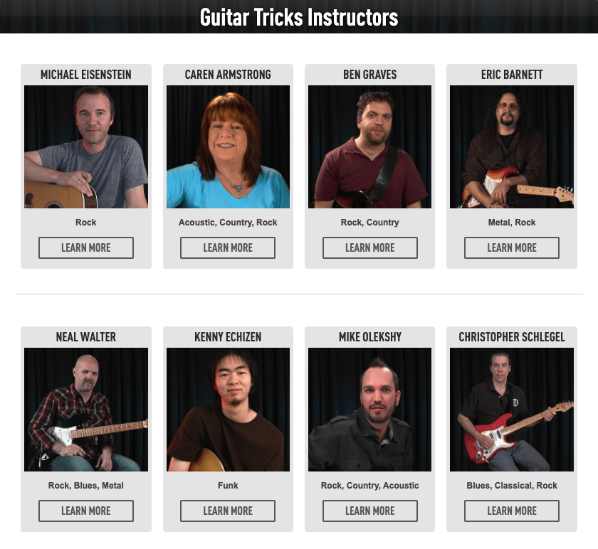Guitar Tricks - Instructors
