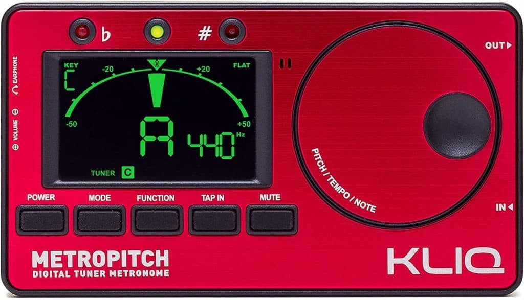 KLIQ MetroPitch - how to tune a guitar with a tuner