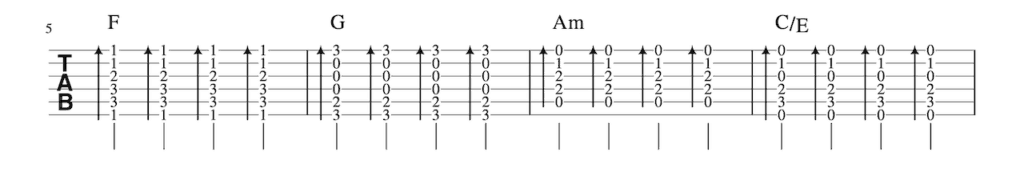 One_Thing Strumming Pattern-2