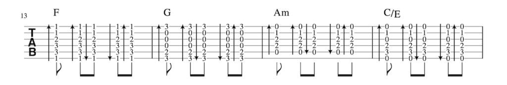 One_Thing Strumming Pattern-4