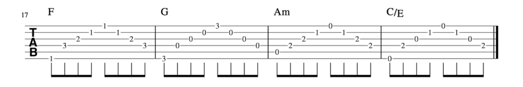 One_Thing Strumming Pattern-5