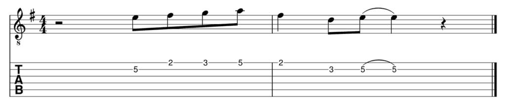 The Lick in E minor