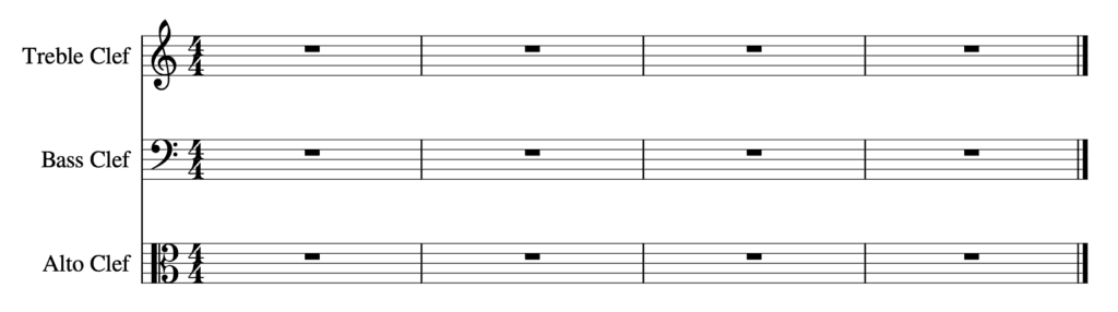 how to read sheet music - Three Clefs - Treble Clef, Bass Clef, Alto Clef